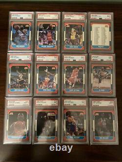 131/132 PSA 9 1986-87 Fleer Set Minus Jordan. All 9s, No Qualifiers Barkley