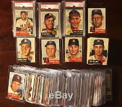 179x 1953 TOPPS - Near Complete SET Partial Starter - VG Cards 179/274