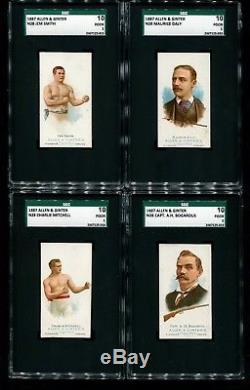 1887 Allen Ginter N28 Complete SGC Graded Set Cap Anson Mike King Kelly