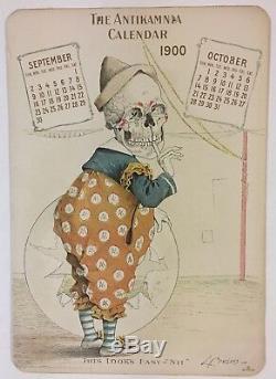 1900 Antikamnia Complete BiMonthly Calendar Trade Card Set of 6