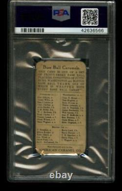 1910 E91 American Caramel TRIS SPEAKER Boston Set C PSA 1