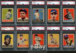 1948 Leaf Partial Set 73 all PSA graded 5.73 GPA DiMaggio, Ruth, Musial, Doby