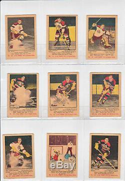 1951-52 Parkhurst Complete Set 1-105 Vintage Hockey Howe, Richard, Sawchuk