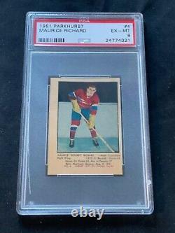1951-52 Parkhurst Hockey Card Set (105), All Graded PSA 6 and above, Avg. 6.75
