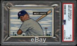 1951 Bowman Baseball Complete Set 12 PSA Cards Mickey Mantle Willie Mays ROOKIES