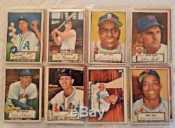 1952 TOPPS BASEBALL PARTIAL SET 178/310 LOW SERIES withMOST STARS VG+/VGEX Nice