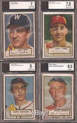 1952 Topps Hi Grade Near Set (406/407) Missing Only Mantle