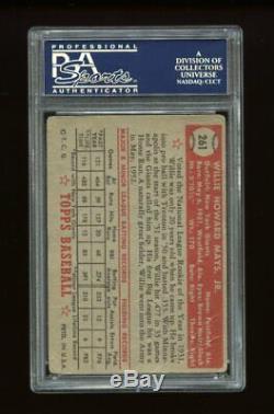 1952 Topps Set Break #261 Willie Mays PSA 1 PR