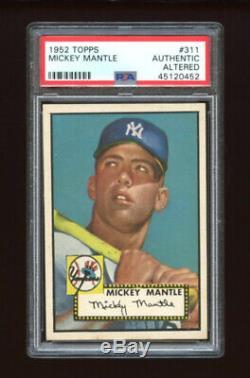 1952 Topps Set Break #311 Mickey Mantle PSA AUTHENTIC ALTERED