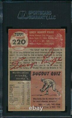 1953 Topps Set Break # 220 Satchell Paige SGC 1 Not PSA OBGcards