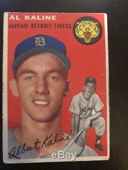 1954 Topps #201 Detriot Tigers Al Kaline Rookie Set Break