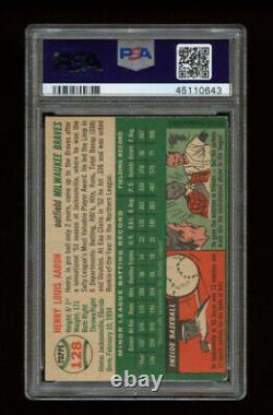 1954 Topps Set Break #128 Hank Aaron RC PSA 4 VG-EX