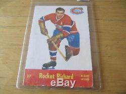 1955-56 Parkhurst Complete Hockey Set Richard, Plante Rc Overall Ex/ex+ Rare