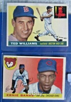 1955 Topps Baseball Complete Set Super High Grade Exmt+ Psa Stars Clemente Ex