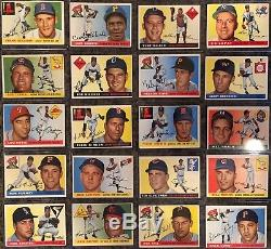 1955 Topps Baseball Complete Set, VG to Ex, 12 Graded Cards