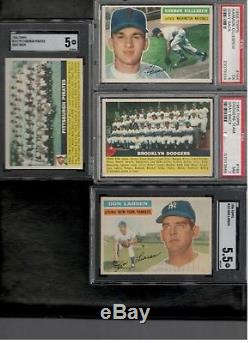 1956 Topps Baseball Complete Set 342/342 cards solid EX-MT with 8 graded cards
