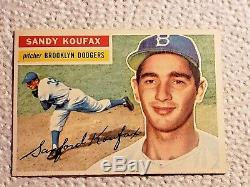 1956 Topps Baseball Complete Set Mantle Williams Aaron Mays Koufax Clemente