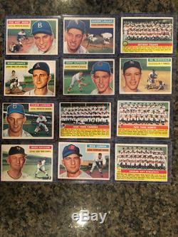 1956 Topps Baseball Complete Set, Mid Grade, Ex Range