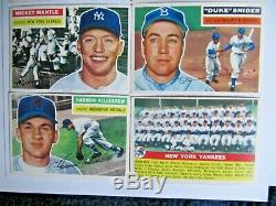 1956 Topps Baseball Complete Set Very Nice MID Grade Overall Vgex+/ex Mantle