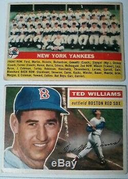 1956 Topps Baseball Near Complete Set (-14) Mantle + Major Stars + Hofers Vgex