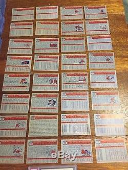 1957 Topps Near Complete Baseball Set. 385 Of 407 Cards Including Stars