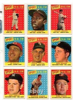 1958 Topps Baseball Complete Set (1-495) In Binder