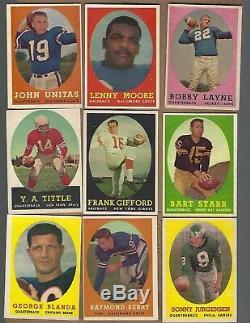 1958 Topps Football Complete Set Nice Brown Psa