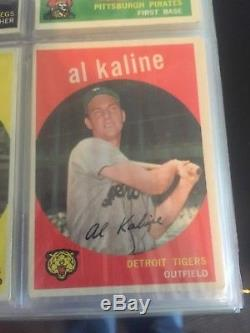 1959 topps baseball almost complete set mid to high grade. Mantle Mays Aaron etc