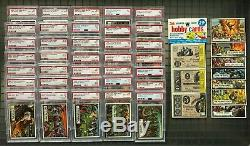 1962 Topps Civil War News Complete Set PSA with Unopened Rack Pack Checklist Top