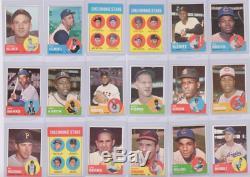 1963 Topps Baseball Near-complete Set 575/576 Strong Vg-ex