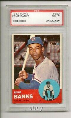 1963 Topps Complete Set with 41 Graded PSA 6 through 9