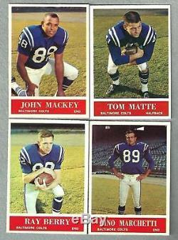 1964 Philadelphia Complete Football set Beautiful Nm NMMT With PSA 8 & 9