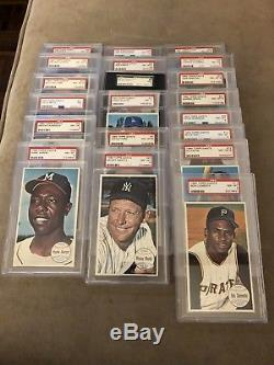 1964 Topps Giants Complete Set MANTLE KOUFAX MAYS CLEMENTE GIBSON PSA 7 8