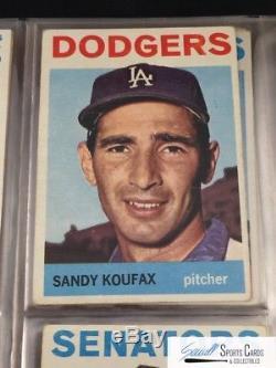 1964 Topps baseball complete 587-card set Mantle Mays Rose, avg VG+, SEWALL