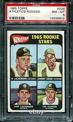 1965 Topps Complete Set ALL 598 cards graded PSA 8 Mantle Aaron Rose Clemente
