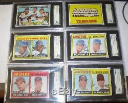 1967 Topps Baseball Set 609 Graded 9 Psa 22 Sgc Nm /mt Beauty Gpa 8.07