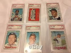 1967 Topps Complete Set PSA graded Star and High Cards. Tom Seaver PSA 8