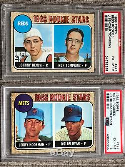 1968 Topps Baseball Complete Set PSA RYAN MANTLE AARON MAYS 598 cards ExNrMt