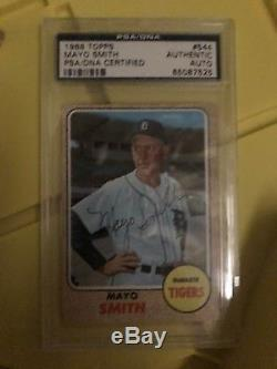 1968 Topps Detroit Tigers World Series Champions Autographed Signed PSA/DNA Set
