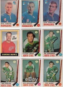 1969-70 O Pee Chee Hockey Set 1-231 Bobby Orr Beliveau Howe Serge Savard