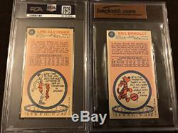 1969-70 topps basketball complete set! With PSA Graded Alcindor And BVG Bradley