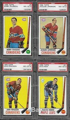 1969 Topps Complete Hockey Set Psa Graded Psa 8 Or Better No Qualifiers