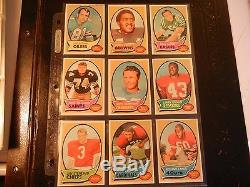 1970 70 TOPPS FOOTBALL Near COMPLETE CARD SET #3 COLLECTION lot -Ex 201/263