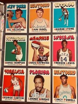 1971 72 Topps Basketball Complete Set Mint Condition Hi Grade $750 Barry Rookie
