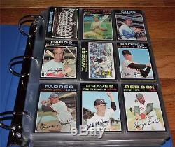 1971 Topps Baseball Cards Partial Set Stars Hall of Famers High #s 447/752 JB6