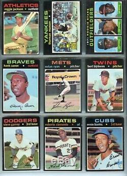 1971 Topps Baseball Complete Set (1-752), Clemente Ryan Mays Reggie Munson Banks
