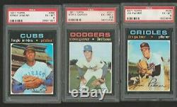 1971 Topps Baseball Complete Set / Mid Grade / (8) PSA Ryan, Rose