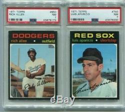 1971 Topps Baseball High Grade COMPLETE SET (63) PSA & PSA 7 Aaron Ryan & PSA 8