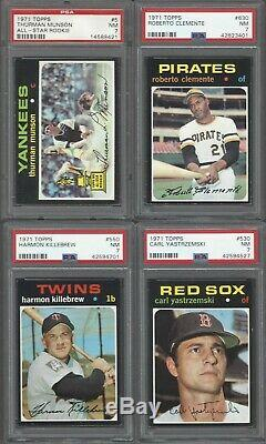 1971 Topps Complete Set Very High End PSA Graded One Owner