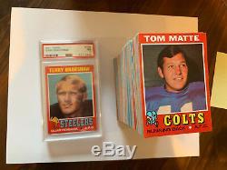 1971 Topps Football Complete Set Nm/mt Psa